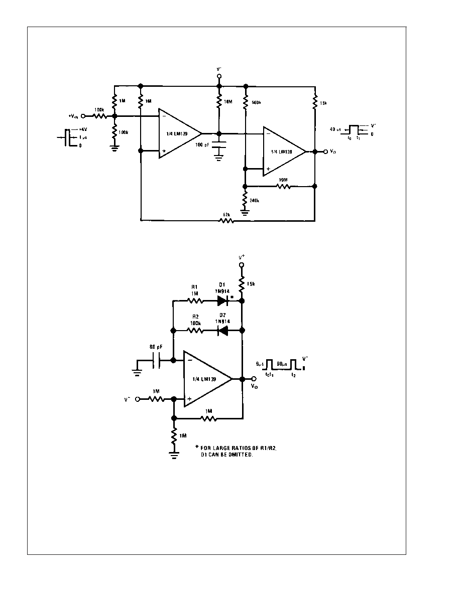 Lm2901 Lm339 Time Delay Generator Circuit Diagram And Datasheet Typical Applications